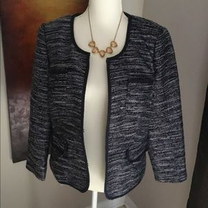 Banana Republic Navy Tweed blazer